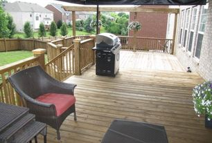 Traditional Deck with Fence, Outdoor kitchen, Best Selling Home Decor Furniture Wicker Multi-brown Nesting Tables