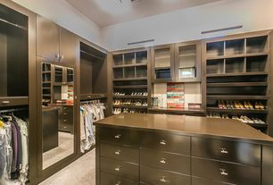 "Contemporary Closet with Built-in bookshelf, SOLID Stainless Steel Bar Pulls - T Pull -2"" Overall, Carpet"