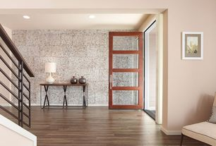 Contemporary Entryway with Maple - Cappuccino 4 in. Solid Hardwood Plank
