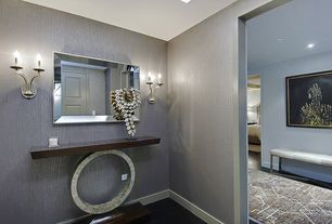 Art Deco Entryway with Hollywood Regency Console Table