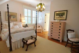 Traditional Kids Bedroom with Casement, no bedroom feature, Chandelier, Hardwood floors, Standard height, specialty door
