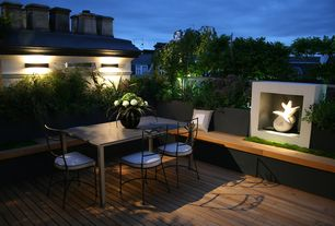 Contemporary Deck with Raised beds