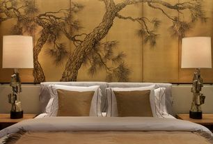 Asian Master Bedroom with Mural, Standard height