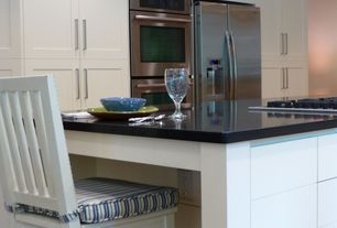 Modern Kitchen with LG Hausys HI-MACS-Solid Surface Countertop in Black