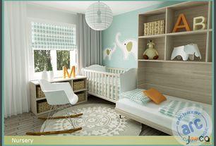 Contemporary Kids Bedroom with Safavieh Handmade Soho Chrono Grey/ Ivory New Zealand Wool Rug (6' Round), Paint 1