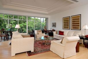 Eclectic Great Room with Laminate floors