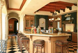 Eclectic Kitchen with Pental calacatta vagli polished marble, Pental nero marquina polished marble