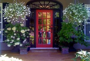 Traditional Front Door with Transom window, Pathway, French doors