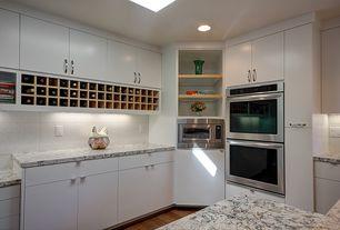 Modern Kitchen with Skylight, Kitchen island, European Cabinets, L-shaped, Flush, Ikea Blankett Handle (Set of 2)