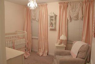 Traditional Kids Bedroom with Carpet, Built-in bookshelf, Chandelier