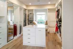 Contemporary Closet with Pergo max 5.35-in w x 3.96-ft l monterey spalted maple embossed laminate wood planks, Window seat