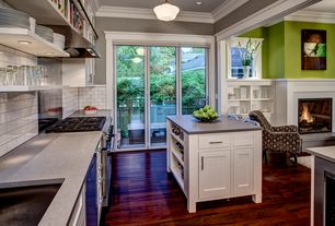 Contemporary Kitchen with LG Hausys HI-MACS-Solid Surface Countertop in Storm Granite, Armen Living Fiesta Circles Chair