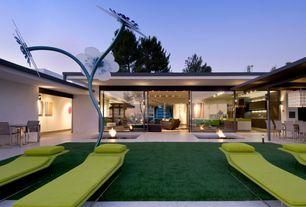 Contemporary Landscape/Yard with Fire pit, exterior stone floors
