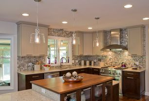 Modern Kitchen with Cambria quartz whitney, full backsplash, Undermount sink, Paint 1, specialty door, Kitchen island