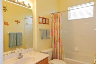 Traditional Kids Bathroom with Complex Marble, Undermount sink, Flat panel cabinets, Complex marble counters, Kids bathroom