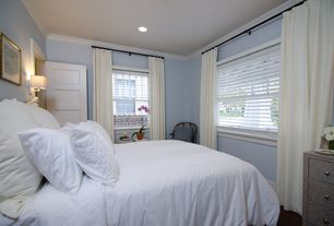 Traditional Guest Bedroom with West Elm Velvet Pole Pocket Curtain - Ivory, Crown molding, West Elm Linen Cotton Duvet Cover