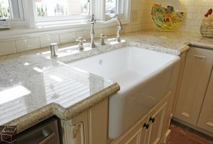 """Country Kitchen with Rohl rc3018bs biscuit shaws 30"""" single basin farmhouse fireclay kitchen sink"""