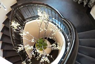 Traditional Staircase with Concrete floors, Spiral staircase