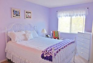 Traditional Guest Bedroom with Tvilum Austin Bedroom 5 Drawer Chest, Carpet, Pottery Barn Savannah Bed & Headboard