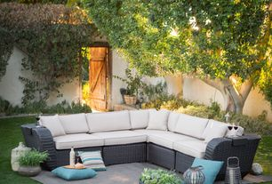 Transitional Patio with Coral Coast Classic 14 x 16 in. Outdoor Toss Pillow - Set of 2, Fence, Vita V Home Gola Ball Lantern