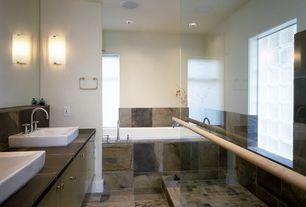 Contemporary Master Bathroom with Arizona Tile Autumn Slate Tile