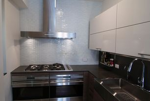 """Contemporary Kitchen with Ms international absolute black granite, Viking 30"""" Electric Single Oven - RVSOE"""