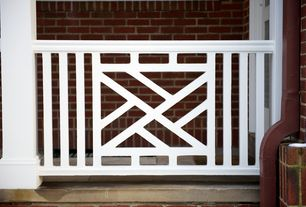 Traditional Porch with Chippendale Style Railing