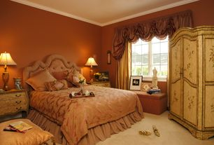 Master Bedroom with Window seat, Crown molding, Paint, Standard height, Carpet, Built-in bookshelf, Casement