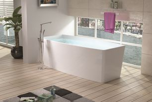 Contemporary Master Bathroom with Pental Axi in White Pine, Master bathroom, Laminate floors, Freestanding