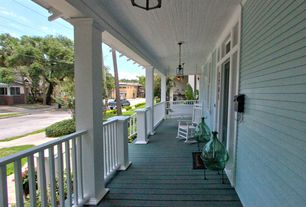 Traditional Porch with Pathway, Transom window, Wrap around porch