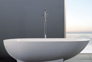 Contemporary Master Bathroom with Daltile Veranda Solids Gunmetal Porcelain Tile