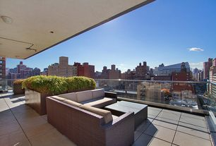Contemporary Deck with Deck Railing, exterior tile floors, exterior concrete tile floors, Raised beds