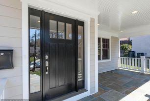 Traditional Front Door with Simpson craftsman three panel exterior door (6863), exterior stone floors, exterior tile floors