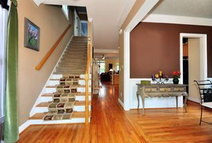 Contemporary Entryway with Crown molding, Paint 2, Wainscotting, Hardwood floors, High ceiling, Paint