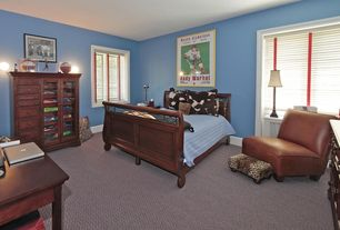 Traditional Kids Bedroom with Casement, no bedroom feature, Wall sconce, Standard height, Carpet