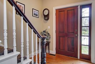 Traditional Entryway with Standard height, Armstrong Flooring - Cherry on Forest Color, specialty door, Hardwood floors