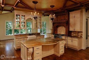 Traditional Kitchen with Paint 2, Paint 1, Paint 3, Marble.com Golden Shadow S Granite
