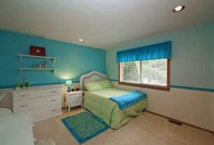 Craftsman Kids Bedroom with Chair rail, Carpet