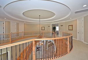 Traditional Staircase with flush light, Loft, High ceiling, Concrete floors, Spiral staircase