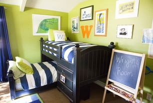 Modern Kids Bedroom with Bunk beds, Canvas Trim Blackout Panel, Camp Bunk System And Twin Bed Set, Bunk bed, Carpet