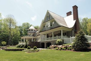 Country Porch with French doors, Bay window, Raised beds, Screened porch, Covered porch, Fence