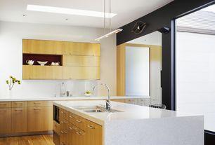 Modern Kitchen with Silestone-Quartz Countertop in Mont Blanc