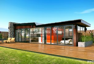 Contemporary Deck with Fence, Raised beds, Trex Elevations Steel Deck Framing
