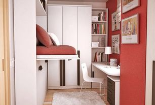 Contemporary Kids Bedroom with Bunk beds, Ikea Arstid Table Lamp, Ikea Bernhard Chair, Chrome Plated, Kavat White