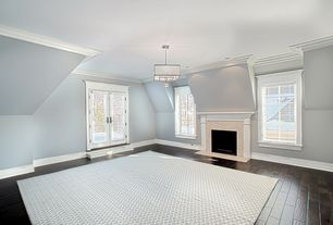 Traditional Master Bedroom with Hudson Valley Lighting Collins Chandelier