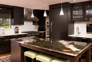 Contemporary Kitchen with Pental quartz super white, Tech Lighting Cone 1 Light FreeJack Pendant