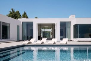 Contemporary Swimming Pool with sliding glass door, exterior concrete tile floors, exterior tile floors, Other Pool Type