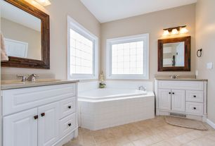 Traditional Master Bathroom with Simple granite counters, Undermount sink, Simple Granite, Raised panel, Master bathroom