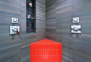 Contemporary Master Bathroom with Master bathroom, Pebble tile shop polished black pebble tile