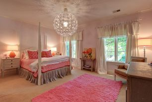 Traditional Master Bedroom with Crown molding, Standard height, Chandelier, Casement, Carpet